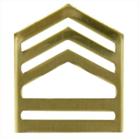 Vanguard ARMY ROTC CHEVRON: SERGEANT FIRST CLASS - BRASS