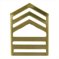 Vanguard ARMY ROTC CHEVRON: MASTER SERGEANT - BRASS