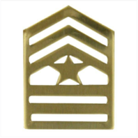 Vanguard ARMY ROTC CHEVRON: SERGEANT MAJOR - BRASS (Pair)