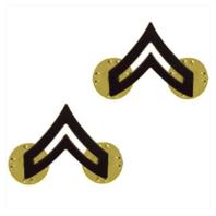 Vanguard ARMY CHEVRON: CORPORAL: CPL - BLACK METAL