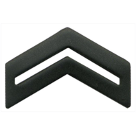 Vanguard ARMY ROTC CHEVRON: CORPORAL SENIOR DIVISION - BLACK METAL