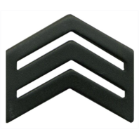 Vanguard ARMY ROTC CHEVRON: SERGEANT SENIOR DIVISION - BLACK METAL