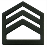 Vanguard ARMY ROTC CHEVRON: STAFF SERGEANT SENIOR DIVISION - BLACK METAL