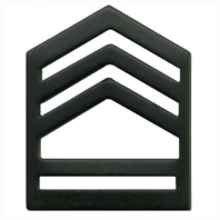 Vanguard ARMY ROTC CHEVRON: SERGEANT FIRST CLASS SENIOR DIVISION - BLACK METAL