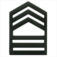 Vanguard ARMY ROTC CHEVRON: MASTER SERGEANT SENIOR DIVISION - BLACK METAL