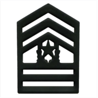 Vanguard ARMY ROTC CHEVRON: COMMAND SERGEANT MAJOR SENIOR DIVISION - BLACK METAL
