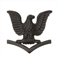 Vanguard MARINE CORPS COLLAR DEVICE: E4 PETTY OFFICER - BLACK METAL