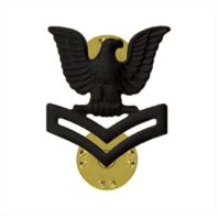 Vanguard MARINE CORPS COLLAR DEVICE: E5 PETTY OFFICER - BLACK METAL