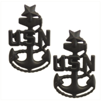 Vanguard NAVY COLLAR DEVICE: E-8 CORPSMAN OR SEABEE SMALL (Black) (Pair)