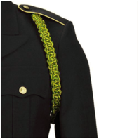 Vanguard ARMY SHOULDER CORD: MILITARY POLICE - GREEN AND YELLOW