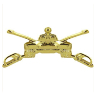 Vanguard ARMY OFFICER BRANCH OF SERVICE COLLAR DEVICE: ARMOR - 22K GOLD PLATED