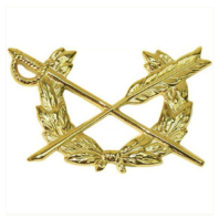 Vanguard ARMY OFFICER BRANCH OF SERVICE COLLAR DEVICE: JUDGE ADVOCATE