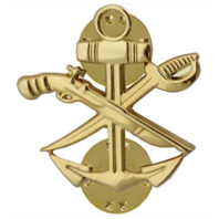 Vanguard NAVY COLLAR DEVICE: SPECIAL WARFARE COMBAT CRAFT CREW SWCC - GOLD