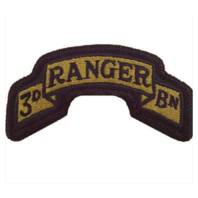 Vanguard ARMY SCROLL PATCH: 75TH RANGER 3RD BATTALION - EMBROIDERED ON OCP
