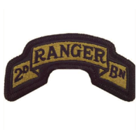 Vanguard ARMY SCROLL PATCH: SECOND RANGER BATTALION - EMBROIDERED ON OCP