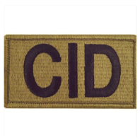 Vanguard ARMY PATCH: CRIMINAL INVESTIGATION DIVISION - EMBROIDERED ON OCP