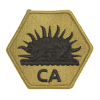 Vanguard ARMY PATCH: CALIFORNIA NATIONAL GUARD CA LETTERS - EMBROIDERED ON OCP