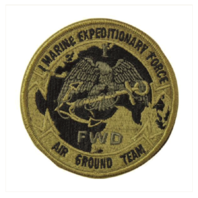 Vanguard MARINE CORPS PATCH: FIRST MARINE EXPEDITIONARY FORCE EMBROIDERED ON OCP