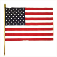 Vanguard AMERICAN FLAG: UNITED STATES OF AMERICA WITH WOOD STICK 12 BY 18 INCHES