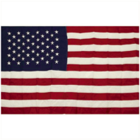 Vanguard FLAG: COTTON CASKET AMERICAN FLAG - 5 BY 9-1/2 FOOT