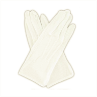 Vanguard GLOVES: PULL-ON GRIPPER GLOVES - WHITE COTTON - SMALL
