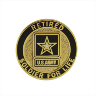 Vanguard ARMY LAPEL PIN: SOLDIER FOR LIFE, RETIRED