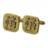 Vanguard NAVY CUFF LINKS: E9 CHIEF PETTY OFFICER: MASTER - GOLD