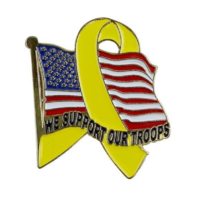 Vanguard LAPEL PIN: WE SUPPORT OUR TROOPS