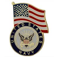 Vanguard NAVY LAPEL PIN: UNITED STATES FLAG WITH NAVY EMBLEM