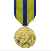 Vanguard Full Size Medal: Navy Expeditionary Award Medal -24K Gold Plated