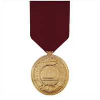 Vanguard Full Size US Navy Good Conduct Medal Award-24K Gold Plated