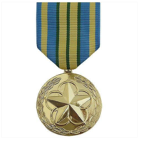 Vanguard Full Size Outstanding Volunteer Service Military Medal -24K Gold Plated