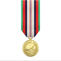 Vanguard Miniature Afghanistan Campaign Military Award Medal- 24k Gold Plated