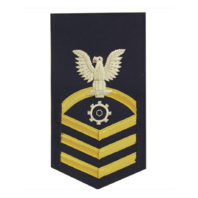 Vanguard COAST GUARD E7 MALE RATING BADGE: MACHINERY TECHNICIAN - BLUE