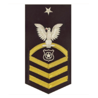 Vanguard NAVY E8 MALE RATING BADGE: MASTER AT ARMS - VANCHIEF ON BLUE