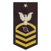 Vanguard NAVY E8 MALE RATING BADGE: OPERATIONS SPECIALIST - VANCHIEF ON BLUE