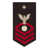 Vanguard NAVY E8 MALE RATING BADGE: ELECTRICIAN'S MATE - SEAWORTHY RED ON BLUE