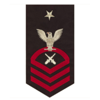 Vanguard NAVY E8 MALE RATING BADGE: GUNNER'S MATE - SEAWORTHY RED ON BLUE