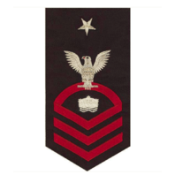 Vanguard NAVY E8 MALE RATING BADGE: MINEMAN - SEAWORTHY RED ON BLUE