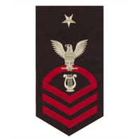 Vanguard NAVY E8 MALE RATING BADGE: MUSICIAN - SEAWORTHY RED ON BLUE