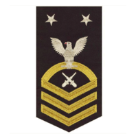 Vanguard NAVY E9 MALE RATING BADGE: GUNNER'S MATE: SEAWORTHY GOLD ON BLUE