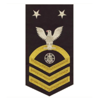 Vanguard NAVY E9 MALE RATING BADGE RELIGIOUS SPECIALIST SEAWORTHY GOLD BLUE