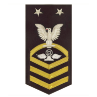 Vanguard NAVY E9 MALE RATING BADGE: AIR TRAFFIC CONTROL - VANCHIEF ON BLUE