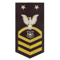 Vanguard NAVY E9 MALE RATING BADGE: MASTER AT ARMS - VANCHIEF ON BLUE