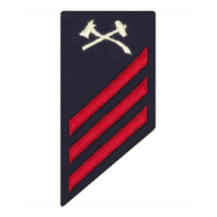 Vanguard COAST GUARD E3 RATING BADGE: DAMAGE CONTROL - BLUE