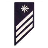 Vanguard COAST GUARD E3 RATING BADGE: QUARTERMASTER - BLUE