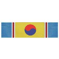 Vanguard Republic Of Korea War Service Ribbon Unit With Device