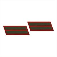 Vanguard MARINE CORPS SERVICE STRIPE: FEMALE - GREEN ON RED, SET OF 2