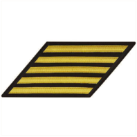 Vanguard NAVY ENLISTED HASH MARKS: GOLD LACE ON SERGE - SET OF 5