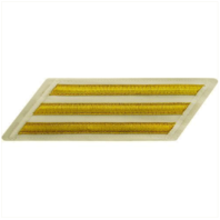 Vanguard NAVY CPO HASH MARKS: GOLD LACE ON WHITE - SET OF 3